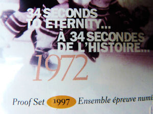 MINT COIN PROOF SET 1997 HOCKEY 32 SECONDS TO ETERNITY 1972