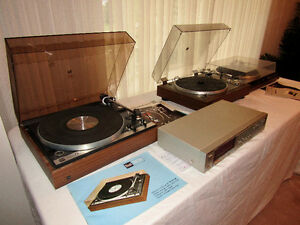 TURNTABLES, RECEIVER, DECKS DUAL, SONY, HITACHI,  SANYO