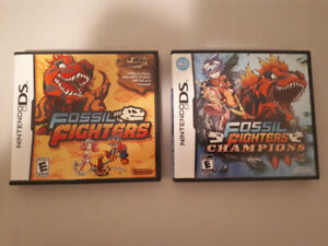 DS Games complete- Fossil Fighters and Champions
