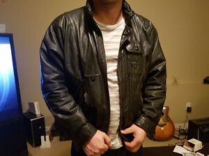 Boulevard Club - Leather Bomber Jacket Men's Medium