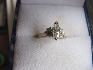 14k yellow gold diamond engagement ring Kitchener / Waterloo Kitchener Area image 1