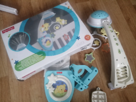 FisherPrice Starlight Cot Mobile in box with user Manual