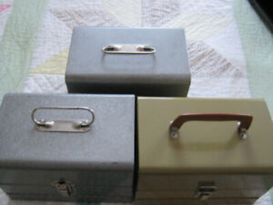8 MM MOVIE FILM STORAGE BOXES/ CANISTERS AND REELS