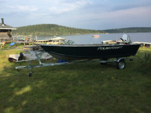 "2018 16ft Polar Kraft, 25hp Etec and Trailer ""JUST LIKE NEW"""