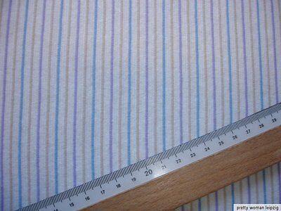 1 Lfm Jersey 2,93€/m²  gestreift Interlock 150cm breit CH60