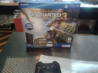 Like new in the box uncharted superslim ps3 bundle 165$