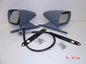 1969-1970 Ford Mustang LH Remote and RH Racing Mirrors