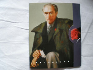 TRUDEAU - Collectible 4 STAMP PACKAGE IN FOLDER  - - $25.00