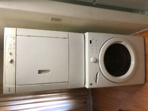 """Quick sale 27"""" front load washer electric dryer stackable"""