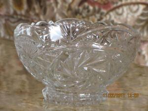 Pin Wheel Crystal Bowl