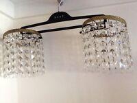 Crystal effect Pendant light fittings