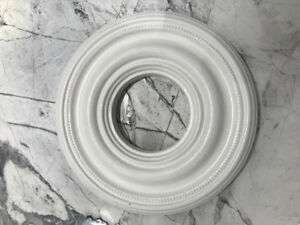 """Set of 3 9"""" Ceiling Medallions for Chandeliers or Pendant Lights"""
