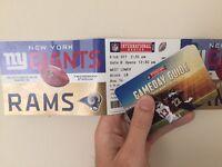 New York giants vs LA Rams NFL twickenham London central lower tier