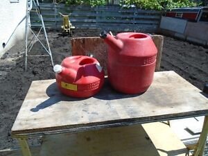 2 different gas cans