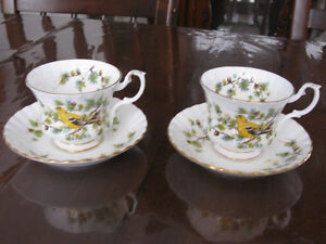 Royal Albert Woodland Series  Goldfinch cup & saucer.