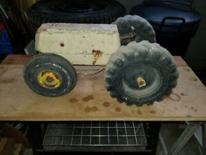 Antique farm tractor toy homemade