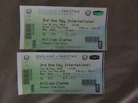 England v Pakistan 1 day Nottingham 1 adult 1 junior ticket