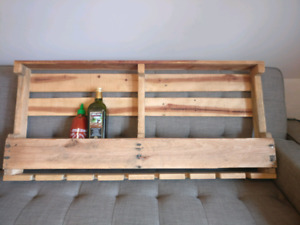 Up-Cycled Pallet Shelf