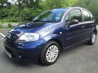 05/55 CITROEN C3 1.4 HDI DESIRE 5DR HATCH IN MET BLUE WITH ONLY 74,000 MILES