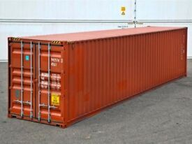 9 40x8ft shipping containers