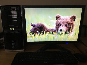 HP Desktop with Monitor for Sale