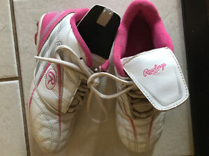 Rawlings Girl's Pink Baseball Cleats Size 1
