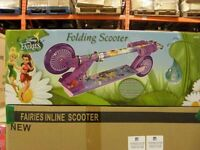 DISNEY FAIRIES FOLDING SCOOTERS two wheel