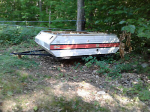 Utility trailer old tent trailer