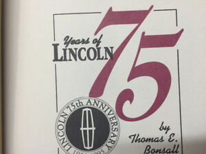 Extremely rare book     LINCOLN  75th ANNIVERSARY      Hardcover