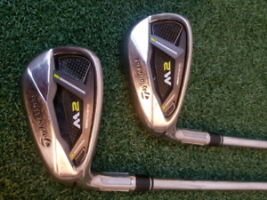 BRAND NEW (mostly) LH left handed Taylormade M2 2017 irons 4-PW