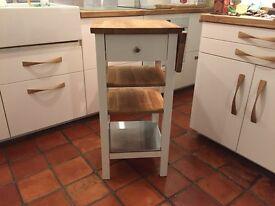 Ikea Stenstorp, Oak & white kitchen trolley