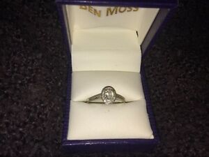Ben Moss Ladies' Size 9 10K White Gold Diamond Ring