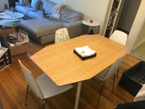 Ikea table and chairs set.