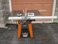 Rigid table saw