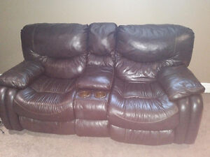 2 two Seat power reclining sofas