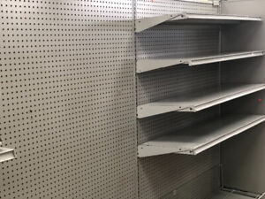 GONDOLAS RETAIL STORE SHELVING USED JUST LIKE NEW MUST SELL