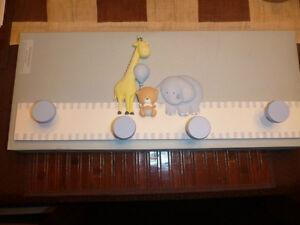 Russ Baby Hand Painted Baby Room Coat Rack Hanger