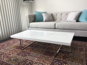 White Coffee Table low profile LIKE NEW