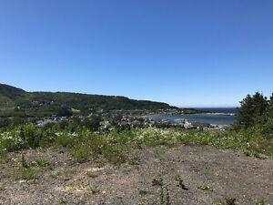 Terrain avec magnifique vue sur Grande-Vallée