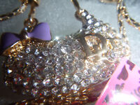 Neuf! Collier Betsey Johnson New Collection Sweater Necklace