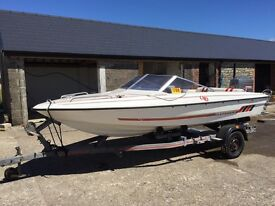 Fletcher ski boat with Mainer 75hp outboard engine