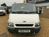 2000 X FORD TRANSIT 2.4 TDCI 90 CREW CAB TIPPER TIPPING DROPSIDE PICK UP TRUCK