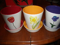3 new flower pots  MOTHERS DAY