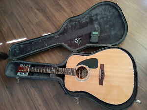 Fender Acoustic Guitar + Case + Capo + Tuner in Perth, ON.
