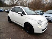 Fiat 500 0.9I TWIN AIR STREET (1 OWNER + BLUETOOTH + 12 MONTH MOT) (white) 2012