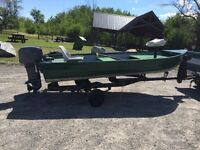 14' Springbok Aluminum 25 Hp Mariner Motor and Trailer