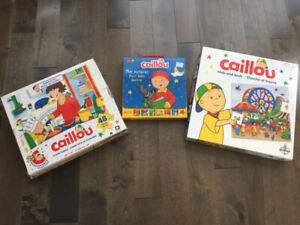Caillou books, game, puzzles