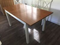 John Lewis Dining Kitchen Table with six Ikea chairs