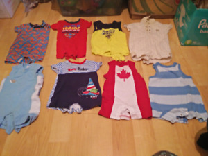 3-6 months boys rompers