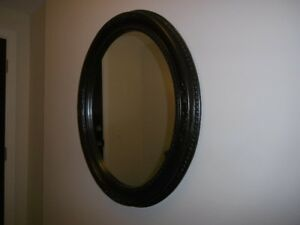Black Oval Vintage Style Shabby Chic Mirror  $75.00